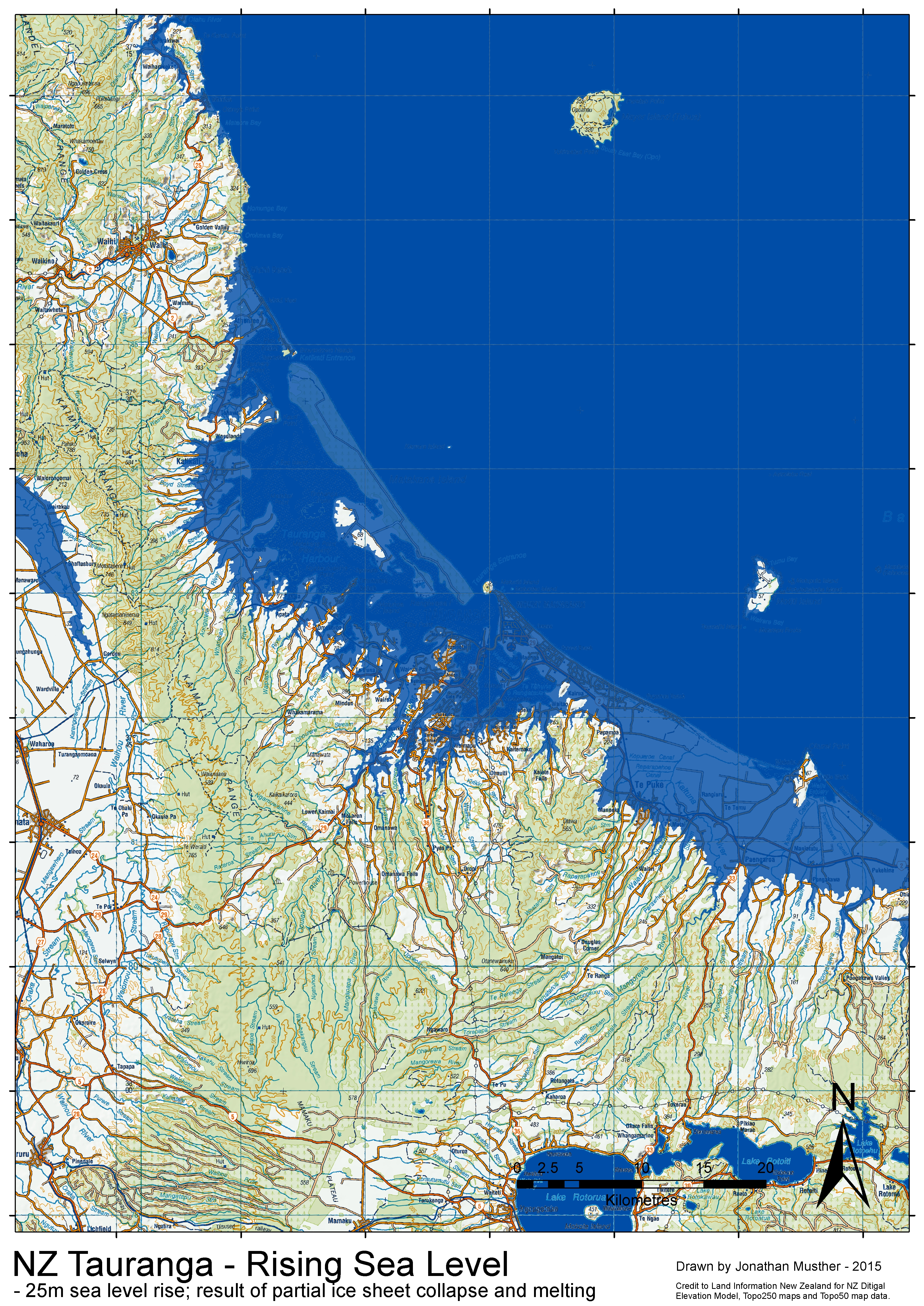 NZ SeaLevel Rise - Sea level rising map