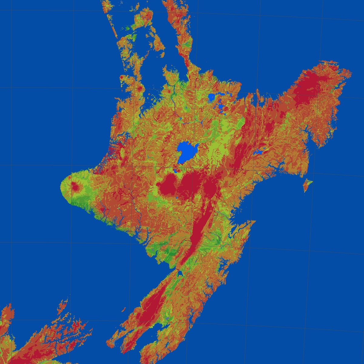 NZ SeaLevel Rise - Projected sea level rise map
